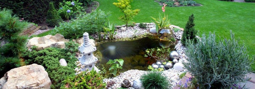 anlegen – aufbauen – einbauen eines gfk fertigteich / fertigteich, Garten seite