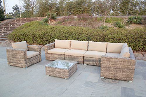 Best Outdoor Furniture Patio Sofa 8 Piece Sectional Table Chair 400 x 300
