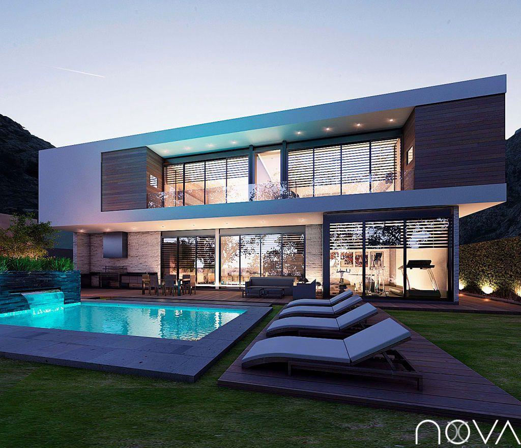 Ideas im genes y decoraci n de hogares dise os de casas for Casa de lujo minimalista y espectacular con piscina por a cero