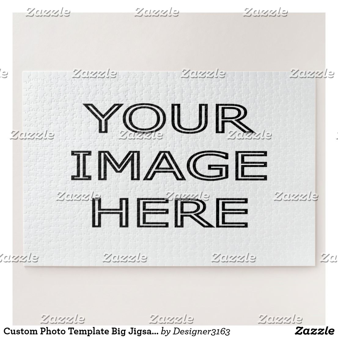 Custom Photo Template Big Jigsaw Puzzle | Custom photo