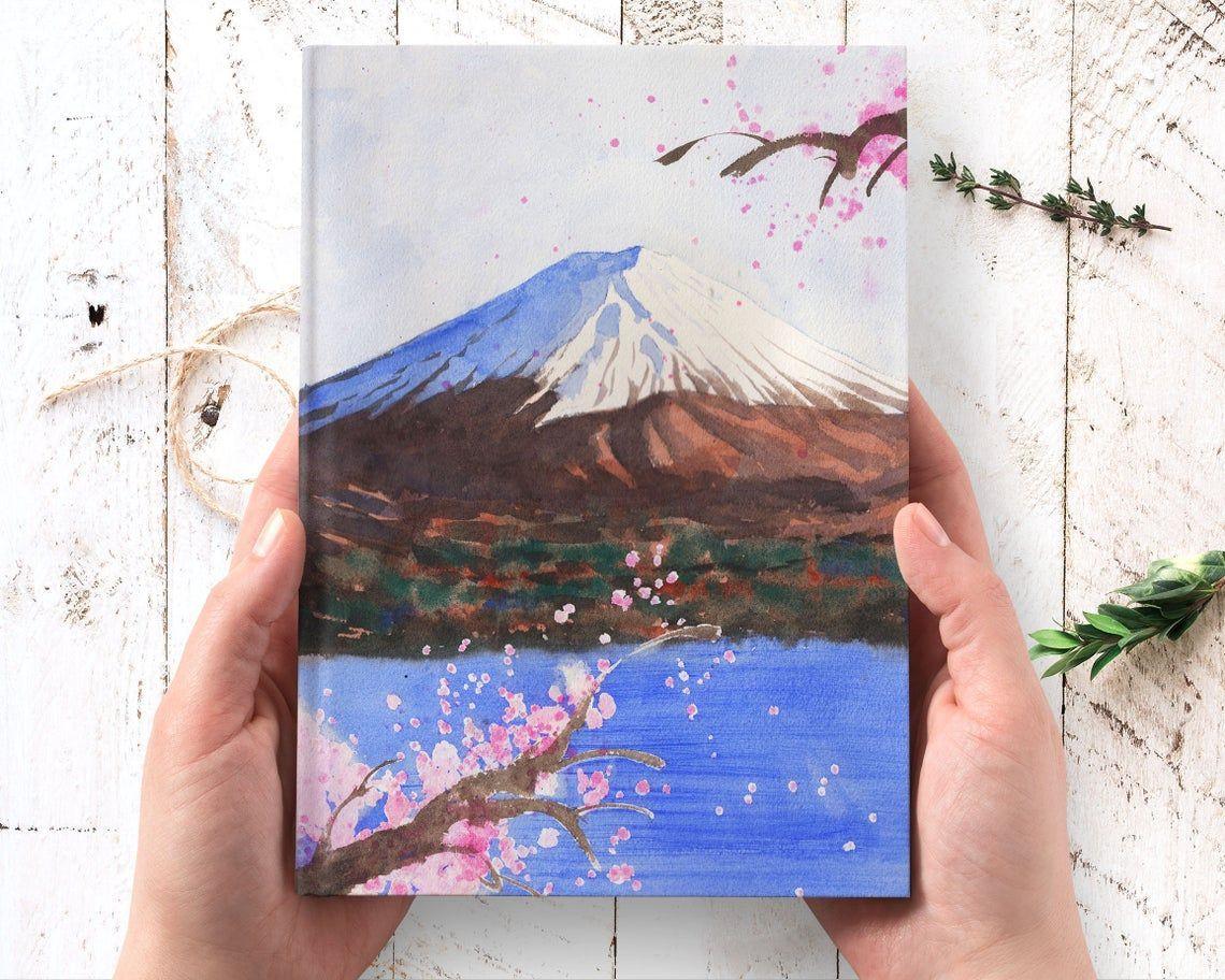 Japan Art Hardcover Journal - Mount Fuji notebook