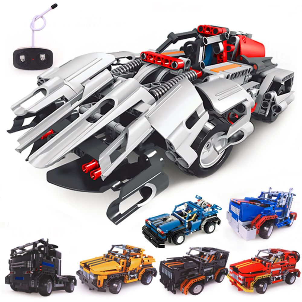 Building Blocks Electrical Remote Control Cars Kids