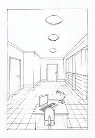Dibujo De Una Habitacion Con Un Punto De Fuga Buscar Con Google Punto De Fuga Proyecciones Ortogonales Perspectiva Paralela