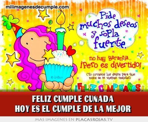 Para Compartir Feliz Cumpleanos Cunada Cunado Happy B Day