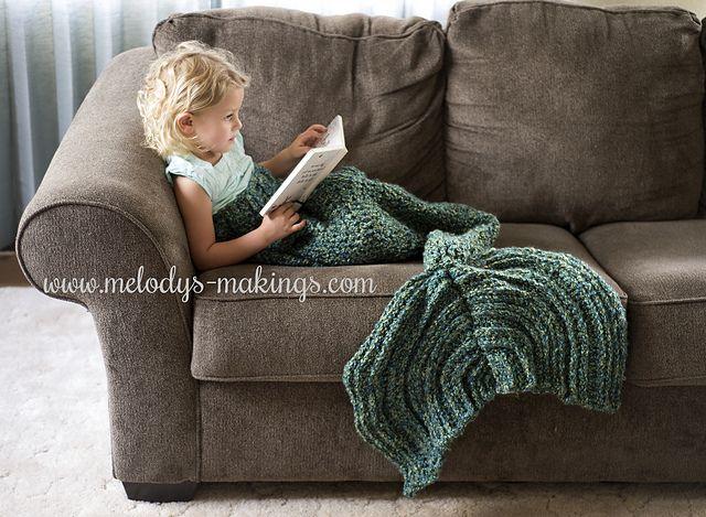Ravelry: Mermaid Tail Blanket ~ Crochet Version pattern by Melody Rogers