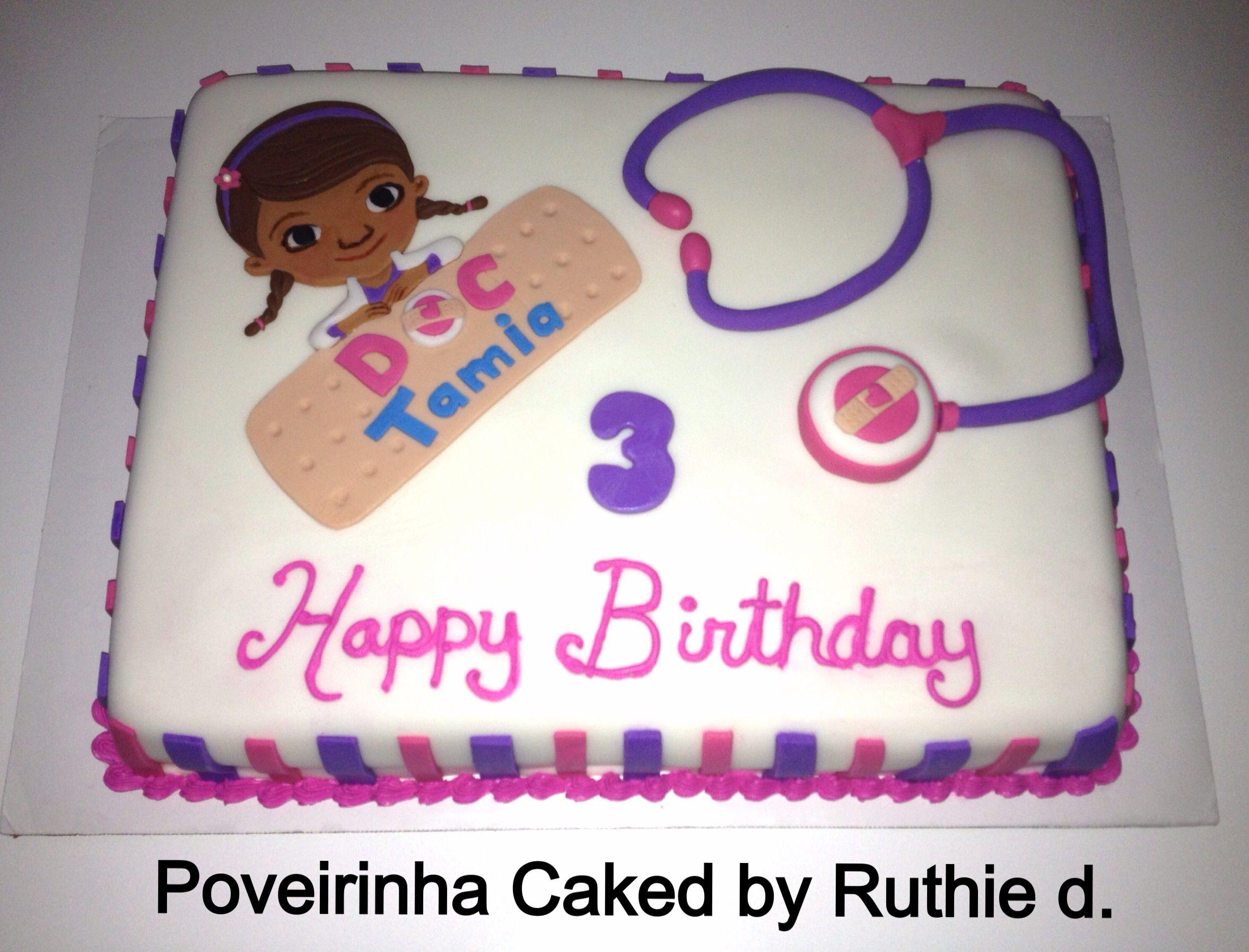 Doc mcstuffins bandages doc mcstuffins party ideas on pinterest doc - Doc Mcstuffins Birthday Cake Poveirinha Cakes By Ruthie De Castro
