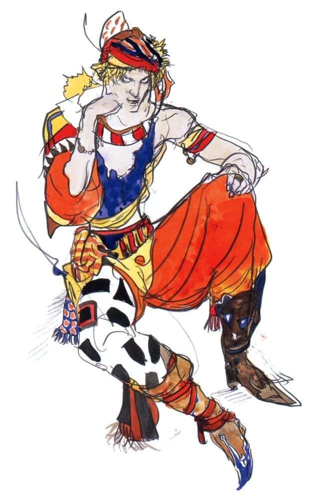 Yoshitaka Amano Kain Highwind Final Fantasy Iv Final Fantasy Iv Kain Highwind Monster Characters