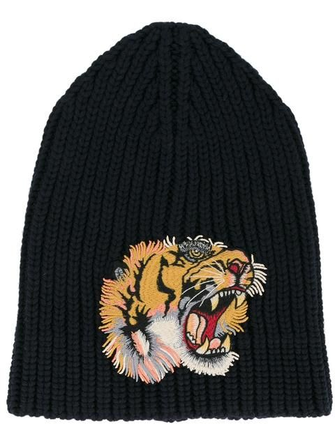 1a5dd804d1b GUCCI Tiger Patch Beanie Hat.  gucci  hat
