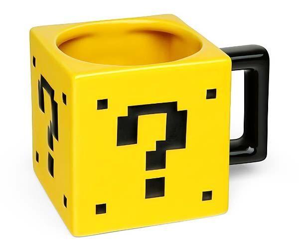 Super Mario Question Mark Block Power-Up Mug