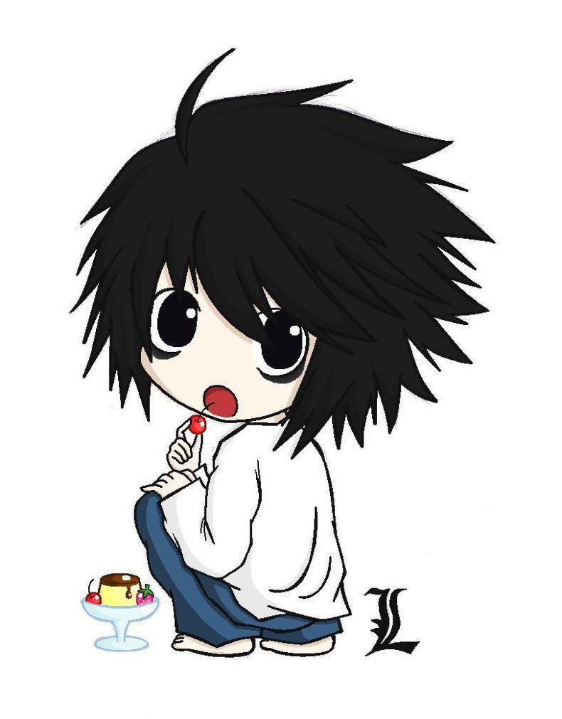 L Chibi 3 3 3 Death Note Fanart Death Note L Chibi