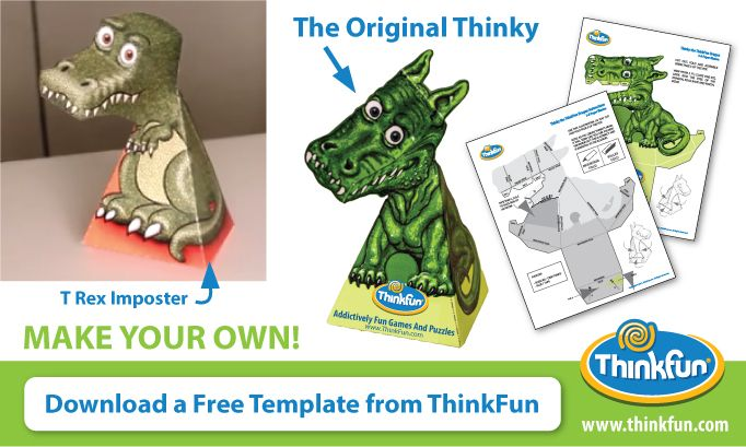 Thinky The Dragon T Rex Video Illusions Bobble