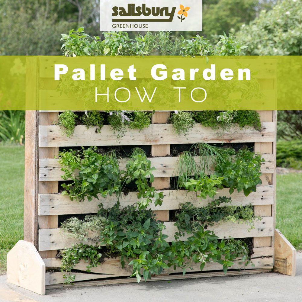 Vertical Pallet Garden, Pallets Garden