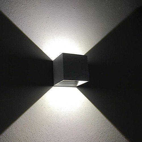 K Bright 12w Gris Foncé Cube Appliques Murales Led Haut Et Bas