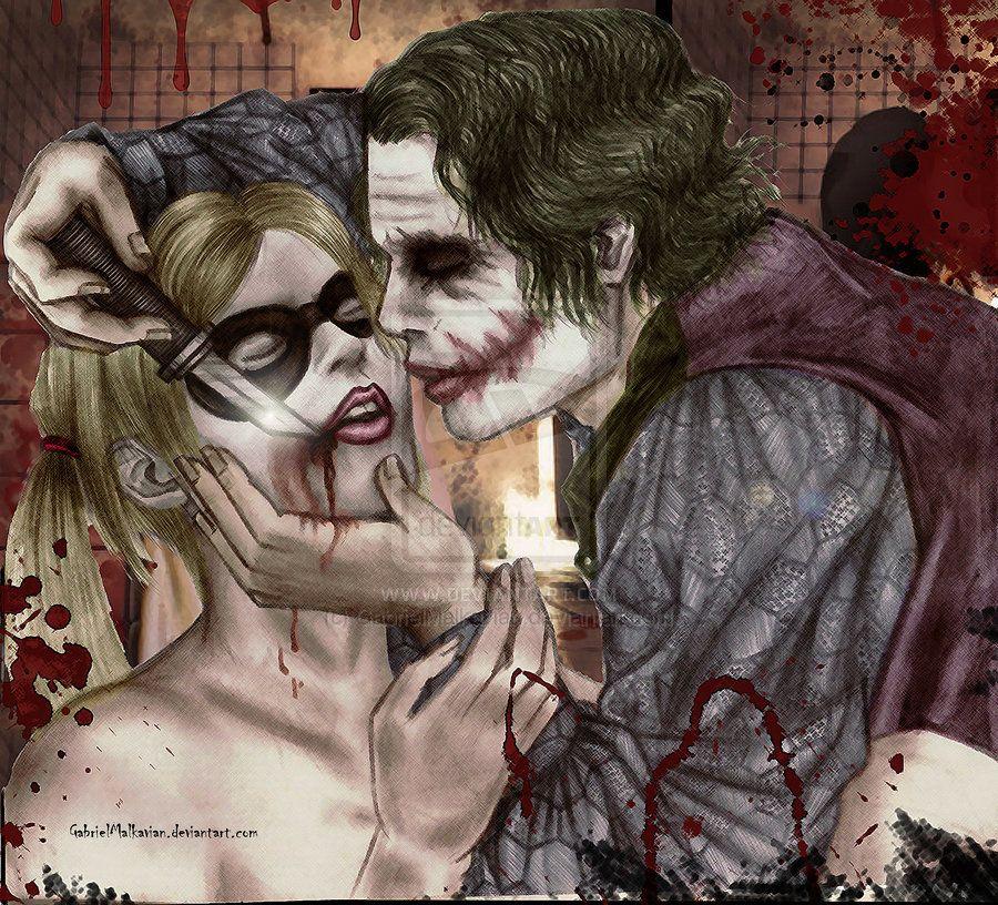 The Joker Gives Harley Quinn Glasgow Smile