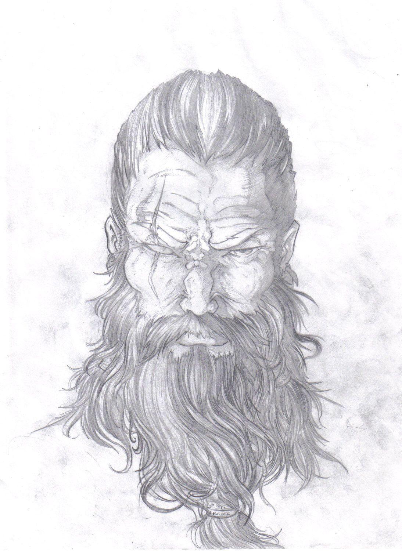 Representação De Odin Deus Da Mitologia Nordica Desenho