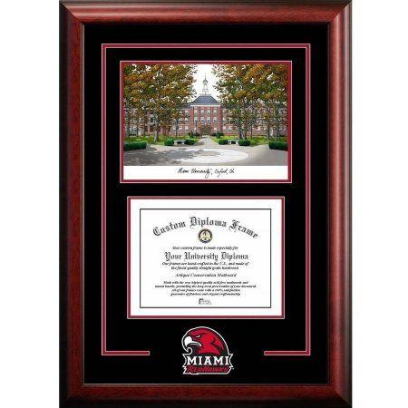 Miami University Redhawks 8.5 inch x 11 inch Spirit Graduate Diploma ...