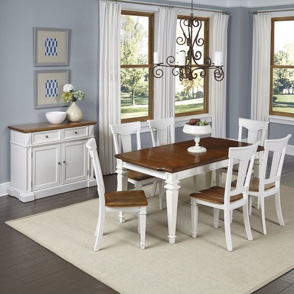 Home Styles Americana 7 Piece Dining Set With Buffet