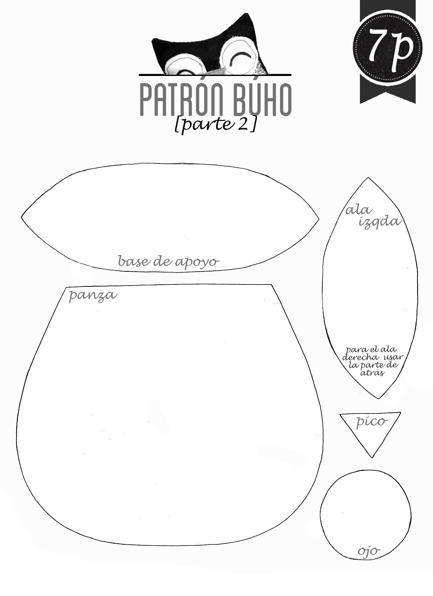 patron+muñeco+de+tela+patron+buho+de+tela+ | Costura/tela | Pinterest