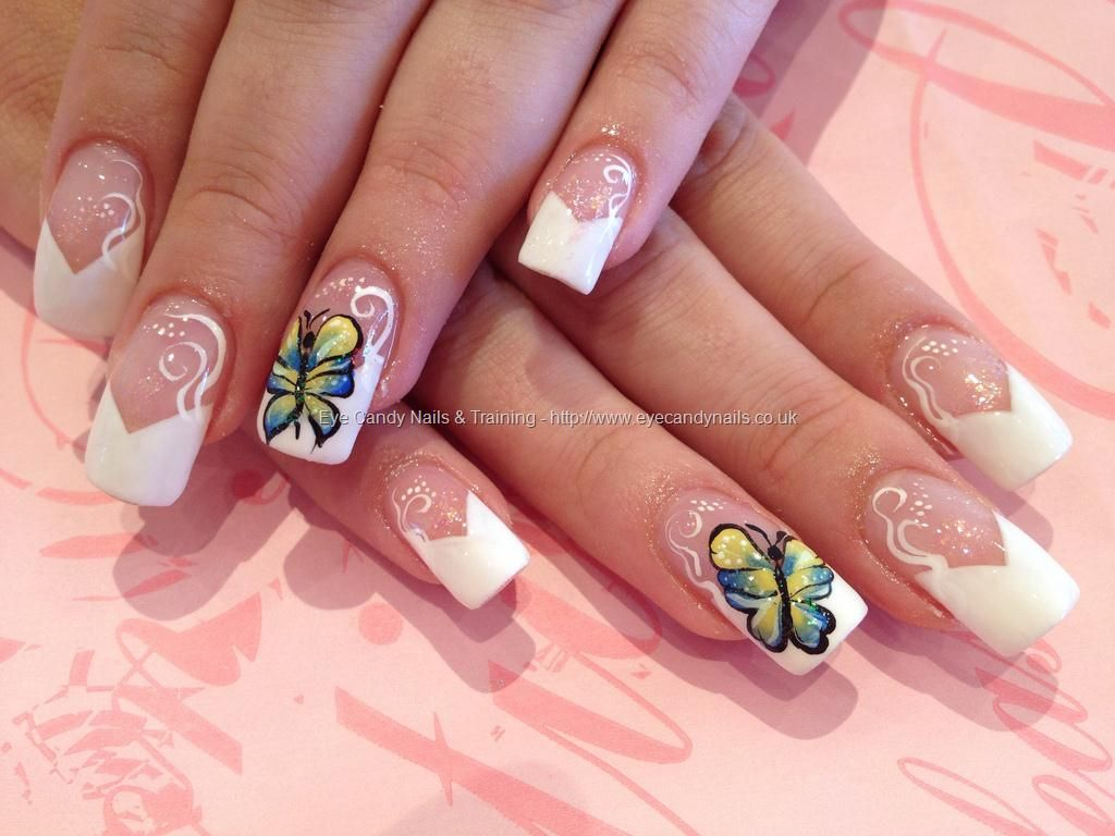 One stroke butterfly nail art | Beauty Fitness Health | Pinterest ...