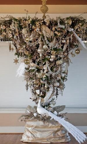 50th Wedding Anniversary Christmas Tree ~ Upside Down by PaulaBurns