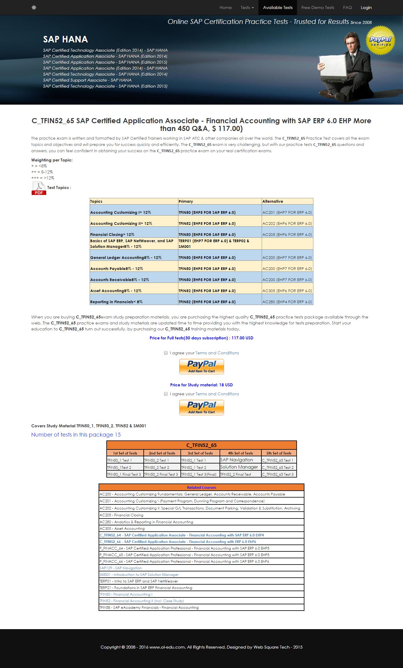 C-TFIN52-65 | C_TFIN52_65 - SAP Certified Application Associate