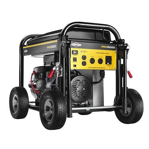 Briggs Stratton 5 000 Watt Pro Series Portable Generator With Electric Start And Whee Portable Generator Portable Power Generator Portable Inverter Generator