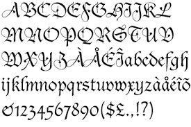 resultado de imagen para letras antiguas para copiar y