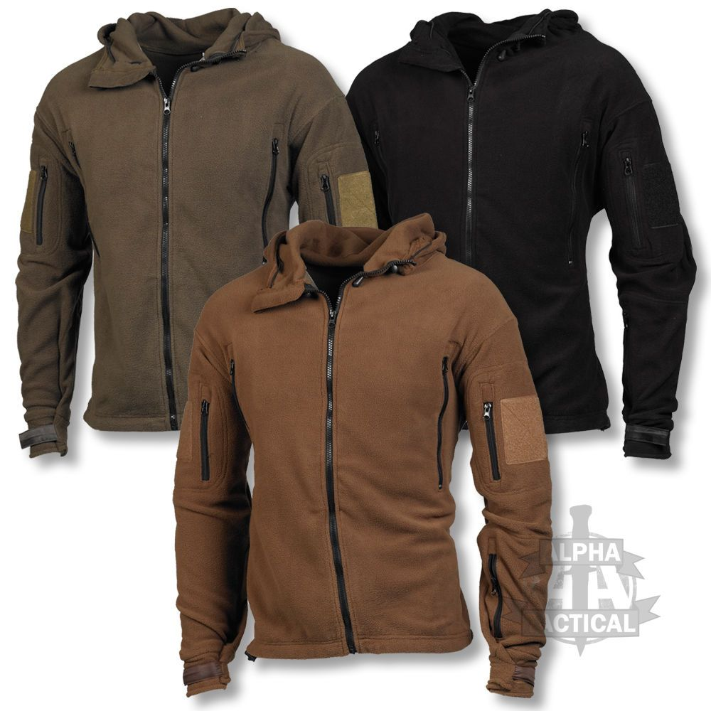 Tactical Recon Hoodie Military Design Fleece Jacket With Union Jack Patch