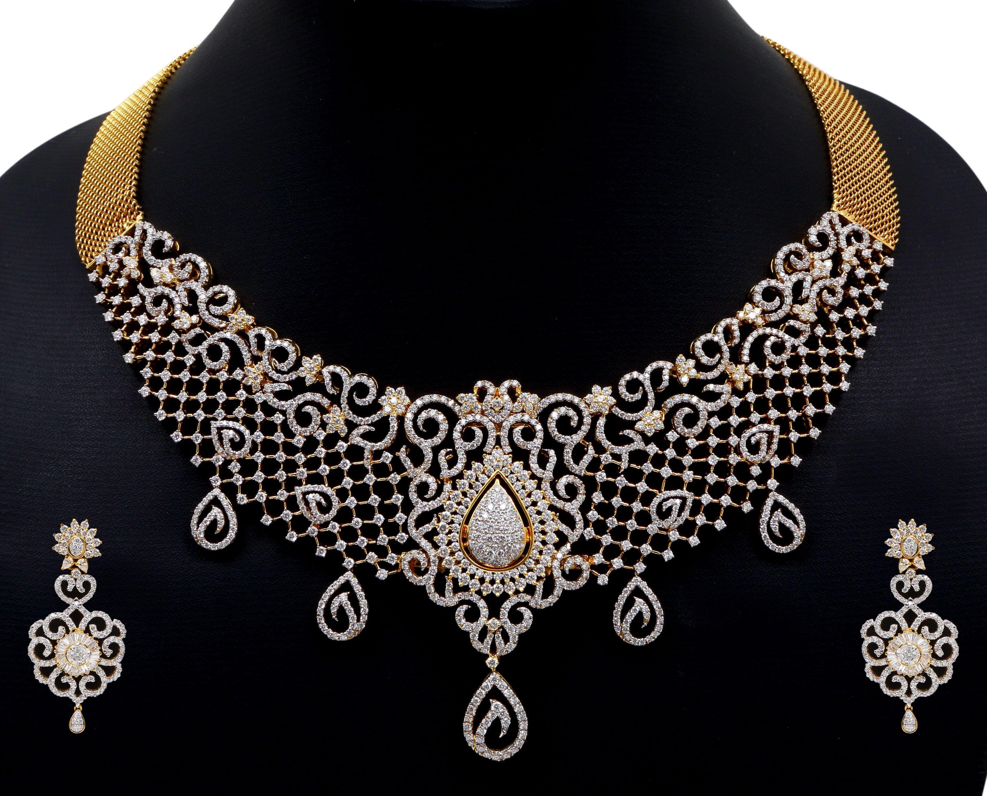 Indian diamond necklacesdiamond necklace set indian diamond necklace