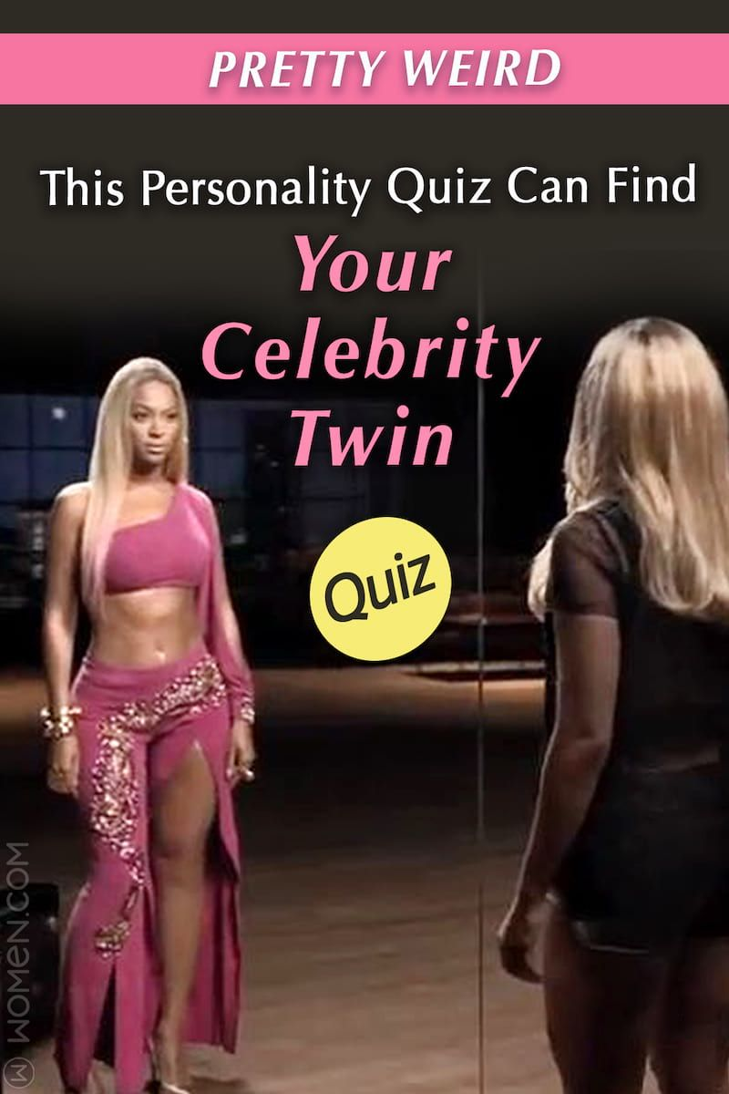 Quiz Pretty Weird This Personality Quiz Can Find Your Celebrity Twin Celebrity Twins Celebrities Personality Quiz