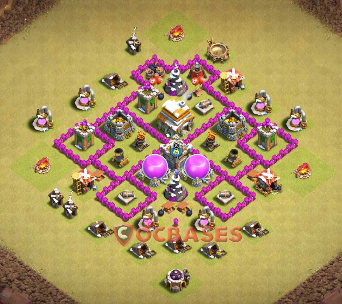 War Base Coc Base Th 6 1