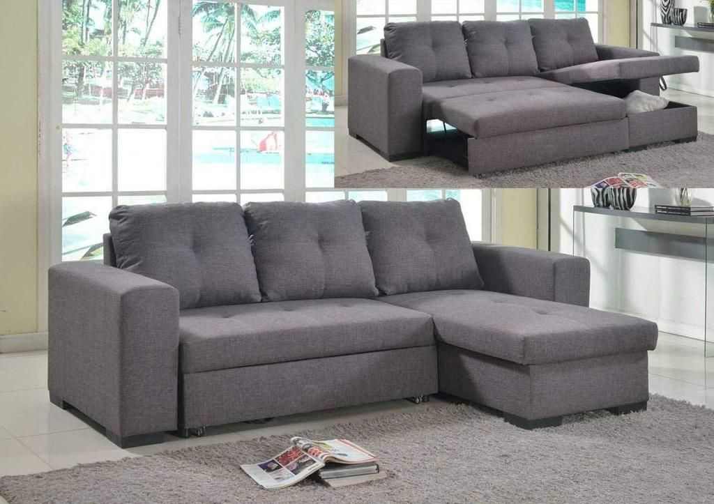 Calm Chaise Sofa Bed With Storage Linen Grey In 2019