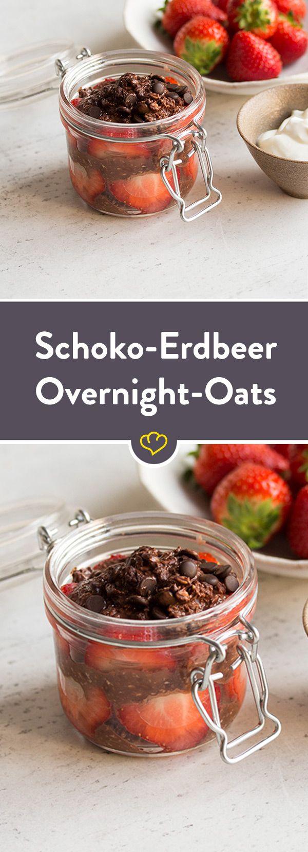 Erdbeer-Schoko Overnight Oats