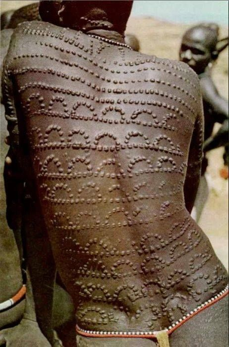 Body scarification mursi tribe of ethiopia different for African body decoration
