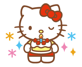 new hello kitty stickers are finally here use them every day to share with friends