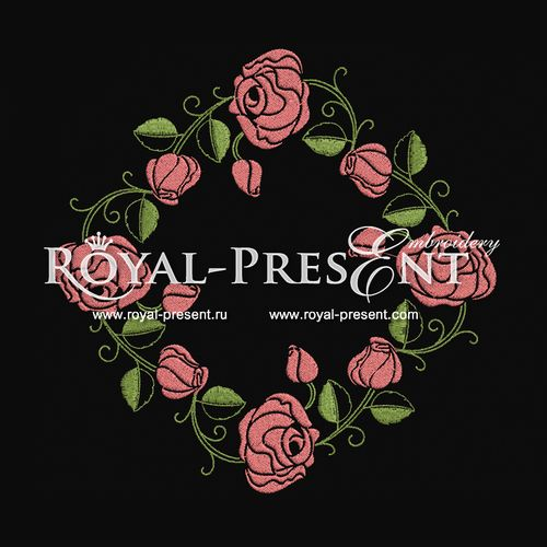 Machine Embroidery Design - Roses #9, $2.25