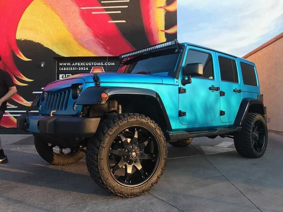 2017 Jeep Wrangler 4 Door 1 3m Satin Ocean Shimmer 2 Angry Bird Grill Color Matched 3 Radiance Ligh Jeep Wrangler 4 Door Jeep Wrangler 2017 Jeep Wrangler