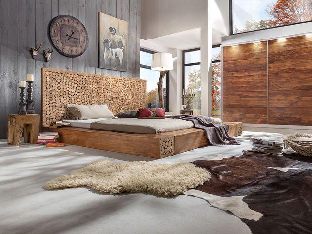 Natur pur im heimischen Schlafzimmer! Viel Holz sorgt für ein - schlafzimmer natur