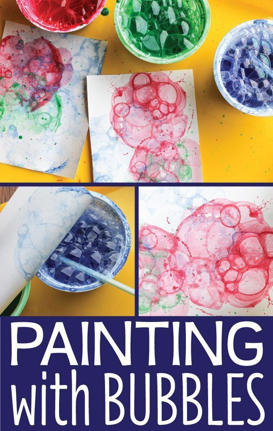 Looking For New Art Activities Kids Bubble Painting Is A Fun Process Activity Preschool Toddlers