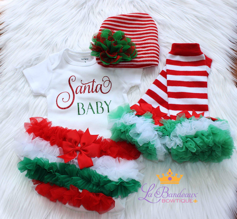 Baby Girl Christmas OutfitSanta Baby Newborn OutfitChristmas