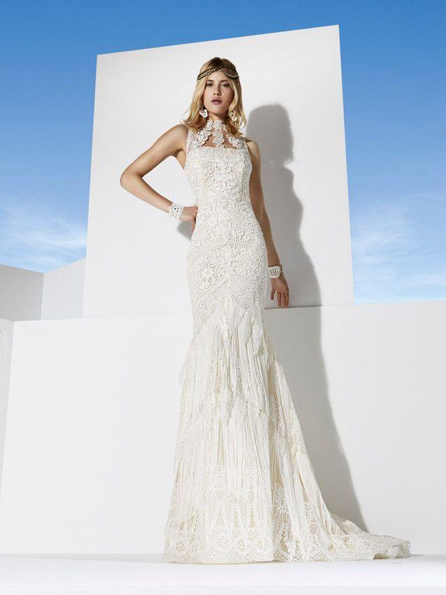 vestido de novia ibicenco para novias con un estilo hippie chic y
