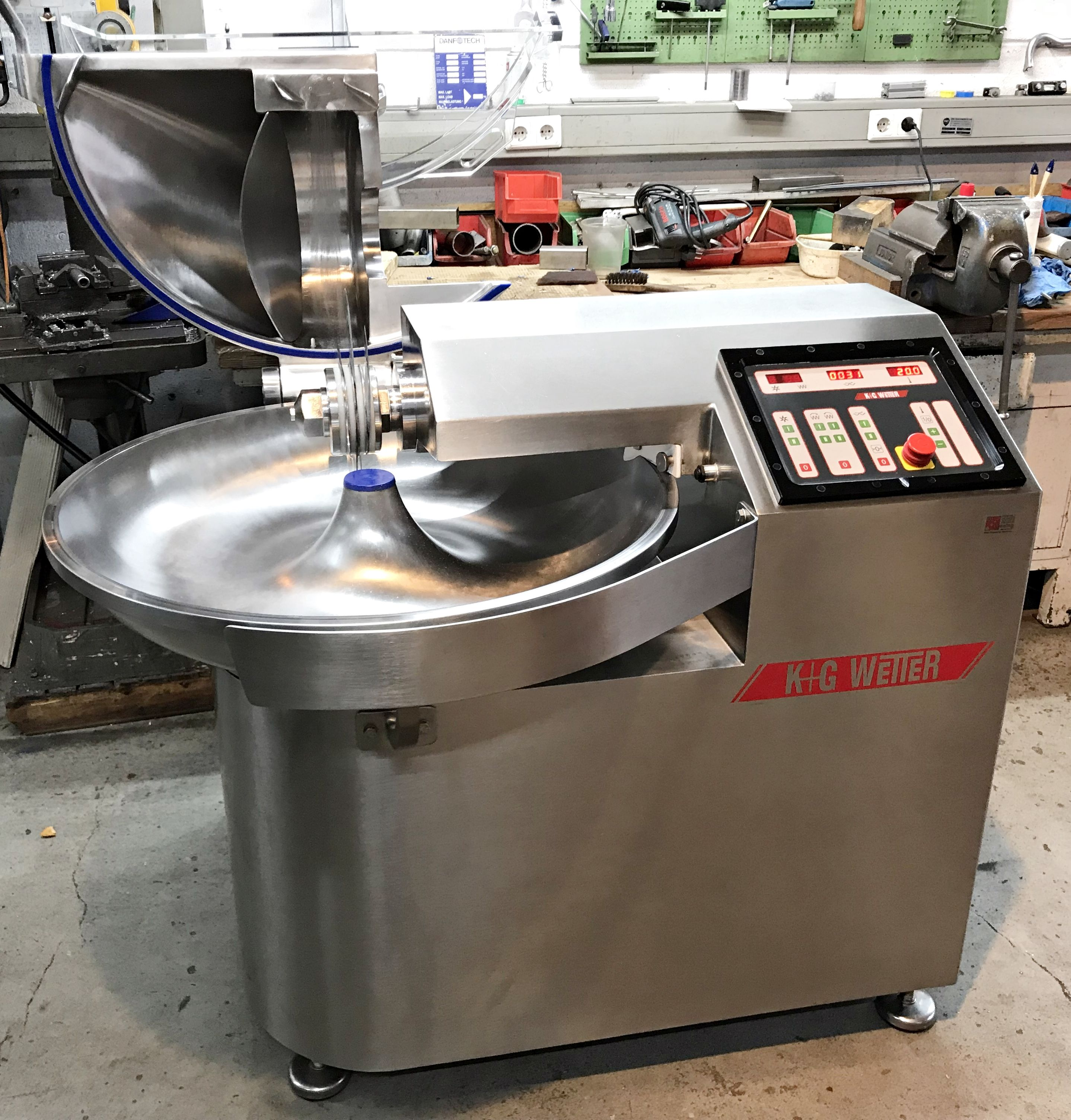 K G Wetter Bowl Cutter Vacuum Packaging Choppers For Sale Bowl