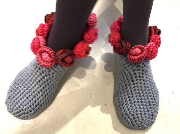 Süße Hausschuhe Rosenglück Petra Perles Hot Wollèe Pinterest