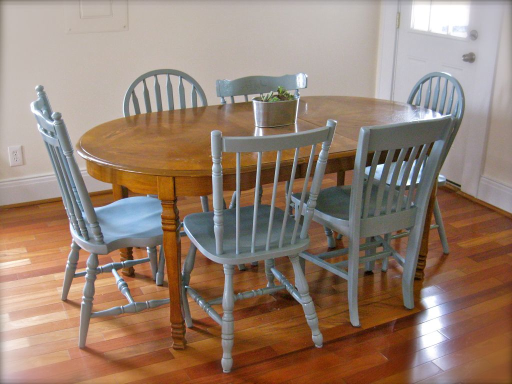 Superieur Grey Painted Dining Room Chairs