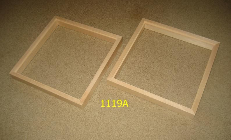 Float Frames For 12x12 1 4 Panels 2 Unfinished Etsy In 2020 Floating Frame Wood Picture Frames Picture On Wood