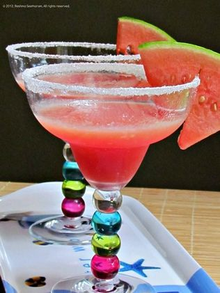 Frozen watermelon margarita: We'll raise a glass to that.