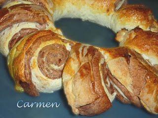 Caprichos sin gluten: Corona de pan y chocolate