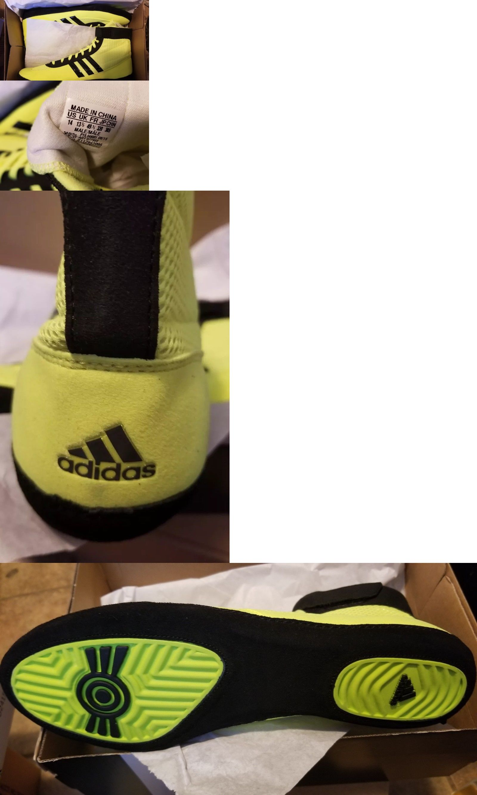 Footwear 79799  Adidas Combat Speed 4 Wrestling Shoes S77933 Solar Yellow  Black Size 14 New -  BUY IT NOW ONLY   29 on  eBay  footwear  adidas  combat  ... cb3a13e9b