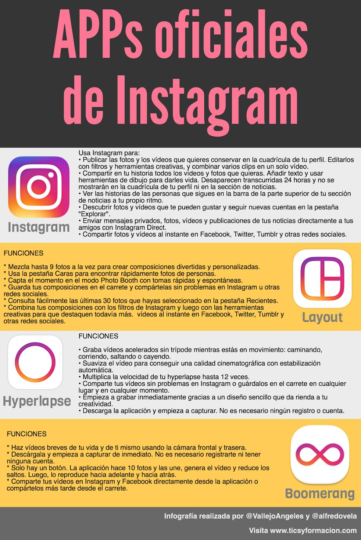 Instagram Manager Tool Ios 8: APPs Oficiales De Instagram #infografia #infographic