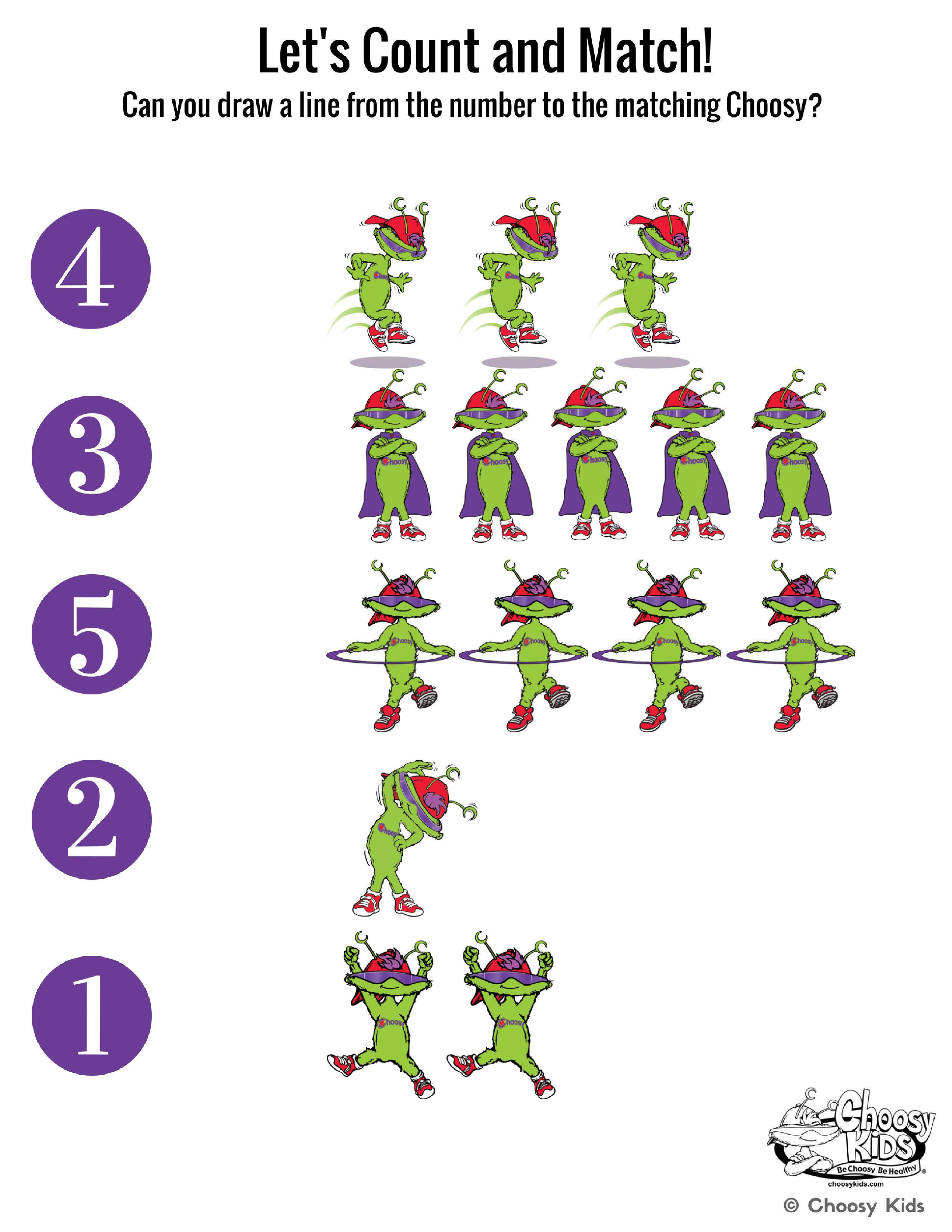 Choosy S Printables Encourage Learning Creativity And